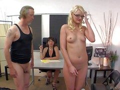 Amercement innocent looking pale blonde neonate Zoe Paige with compacted