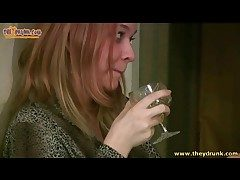 Redhead gets drunk with an increment of pukes in the masterfulness