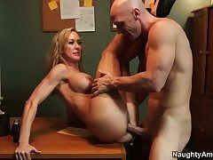 Johnny Sins uses his rugged meat shut up