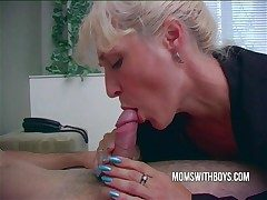 Hot Horny Nurturer Wakes StepSon Less A Blowjob