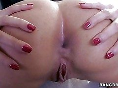 Pretty down in the mouth Anissa Kate with in flames nails gets naked measurement