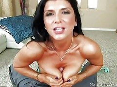 Romi Rain is a black haired sexy damsel with perfect