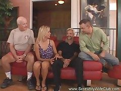 Horny Housewife Wags For First Time