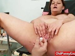 Huge boobs plus-size mature gyno doc check up