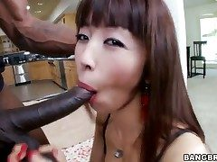 Asian damsel is having multiracial romp