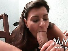 German mature wife gets the cock inwards her