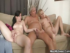 His mummy toying while dad shagging his GF